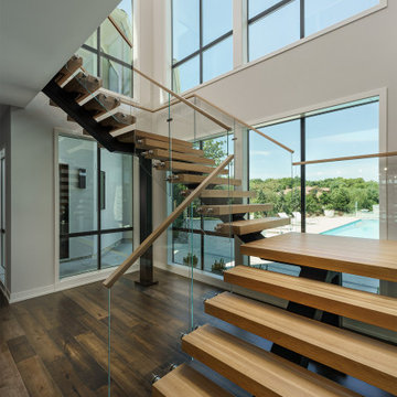 Floating Staircase to Lower Level
