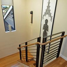 Contemporary Staircase by Ventana Construction LLC