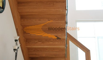 Floating Zigzag staircase (Oak and Glass)