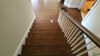 Floor reinishing with dark stain color