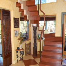 Eclectic Staircase by Farrell Design Assoc Inc,