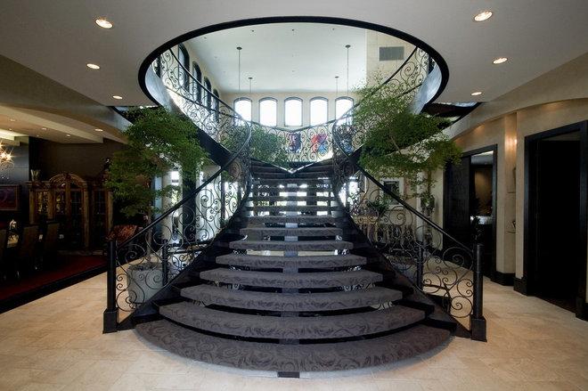 Mediterranean Staircase by Glenat Duxbury Interior Design