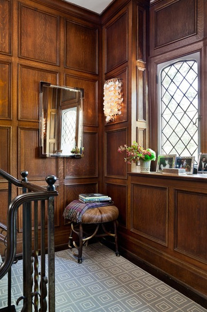 Eclectic Staircase by Sara Bederman Interior Design