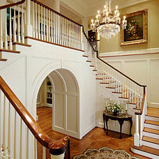 Traditional Staircase by Rill Architects
