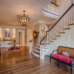 Example of a classic staircase design in Philadelphia