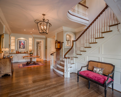 Foyer Stairs Reviews : Quarter landing staircase home design ideas pictures
