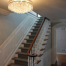 Transitional Staircase by Great Rooms Designers & Builders