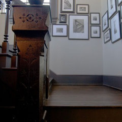 eclectic staircase by Tracery Interiors