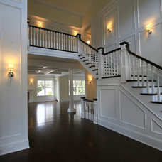Traditional Staircase by Heartwood Corp