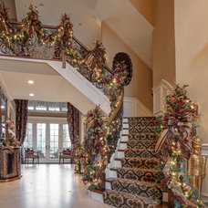 Traditional Staircase by Linly Designs