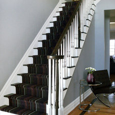 Traditional Staircase by David Schaf Interiors, LLC
