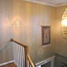 Traditional Staircase by Yveline & Associates, Ltd.