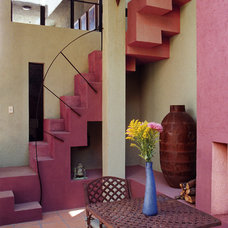 Mediterranean Staircase by House + House Architects