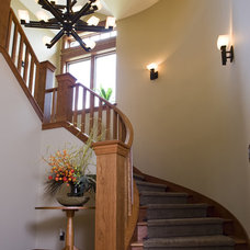 Traditional Staircase by Shane D. Inman