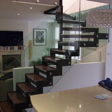 Modern Staircase by Essex Design Fabrications Ltd