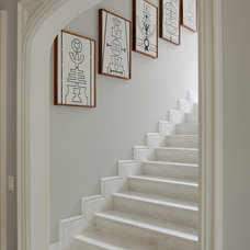 Traditional Staircase by Allan Malouf Studio