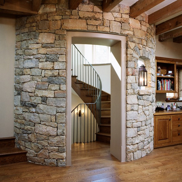 Rustic Staircase by E. B. Mahoney Builders, Inc.
