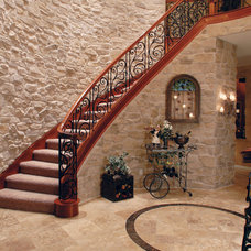 Mediterranean Staircase by Coronado Stone Products