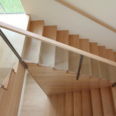 Transitional Staircase by Sarah Jefferys Design