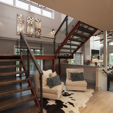 Contemporary Staircase by Malbec Homes & Renovations Inc.