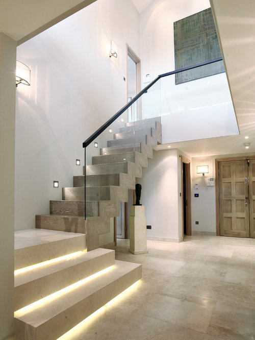 stair lighting. inspiration for a contemporary wooden lshaped staircase remodel in london stair lighting