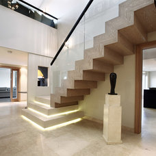 Contemporary Staircase by Alex Maguire Photography
