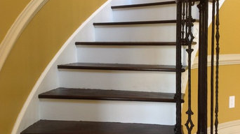 Full Rail and Steps Refinish w/Iron Balusters and Scroll Panels - Medford - NJ