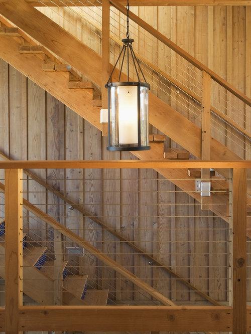 Contemporary Cable Railing Staircase Idea In San Luis Obispo