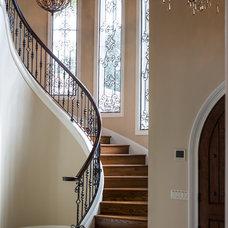 Mediterranean Staircase by Dixon Kazek Morrison Custom Homes