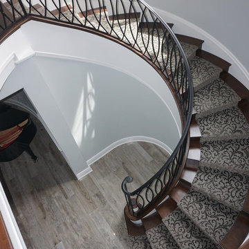 G.A. White Homes-Spiral Staircase Job