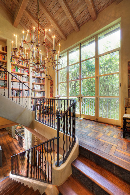 eclectic staircase by Dave Adams Photography