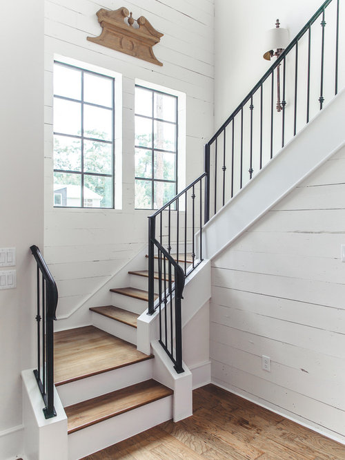 Farmhouse Staircase Design Ideas Remodels Amp Photos