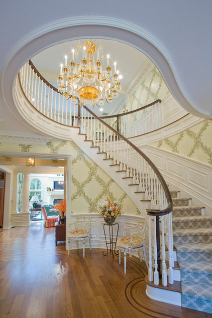 Traditional Staircase by Peter Dorne Architects