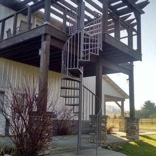 Ejemplo de escalera rural de tamaño medio