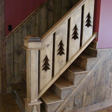 Traditional Staircase by Oceanside Builders, LLC.