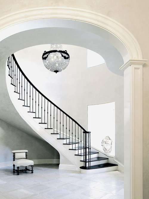 Traditional staircase design ideas remodels photos for Georgian staircase design