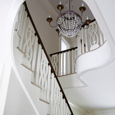 Traditional Staircase by Brooks and Falotico Associates, Inc.