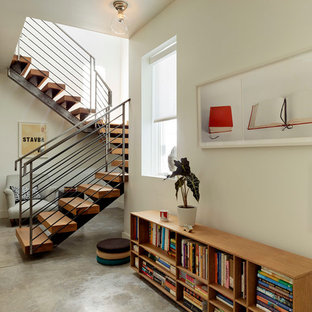Example of a trendy staircase design in San Francisco