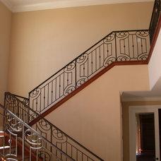 Mediterranean Staircase by Stair Design  /  Iron Design