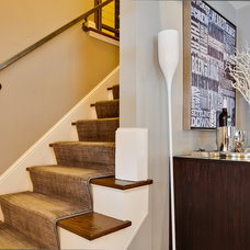 Modern Staircase by Dwelling Designs