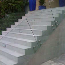 Modern Staircase by Conti Glass Corporation