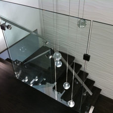 Modern Staircase by Steel Illusions Inc