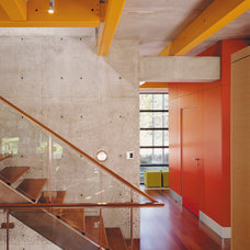 Industrial Staircase by Thomas Roszak Architecture, LLC