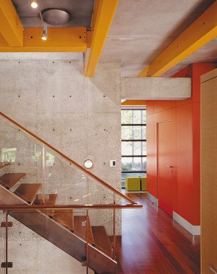 Industrial Staircase by Thomas Roszak Architecture, LLC