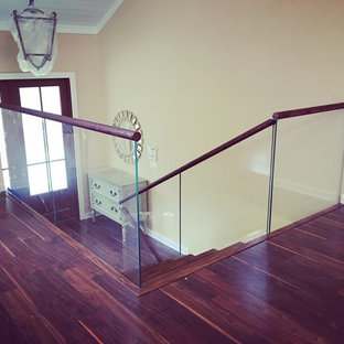 Glass Railings + Second Floor Guardrail