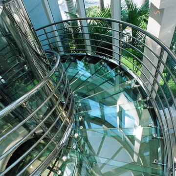Glass Staircases, treads, landings