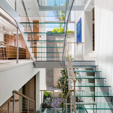 Glass Stairs with Skylight