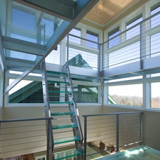 Contemporary Staircase by Boyer Building Corporation