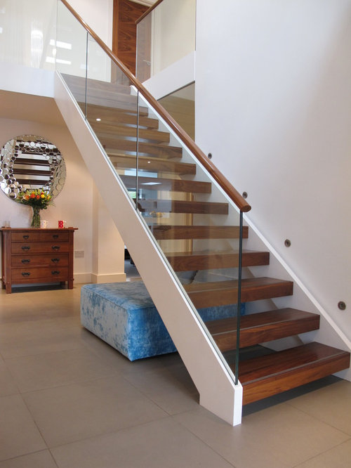 Open Tread Stair Home Design Ideas Pictures Remodel And Decor