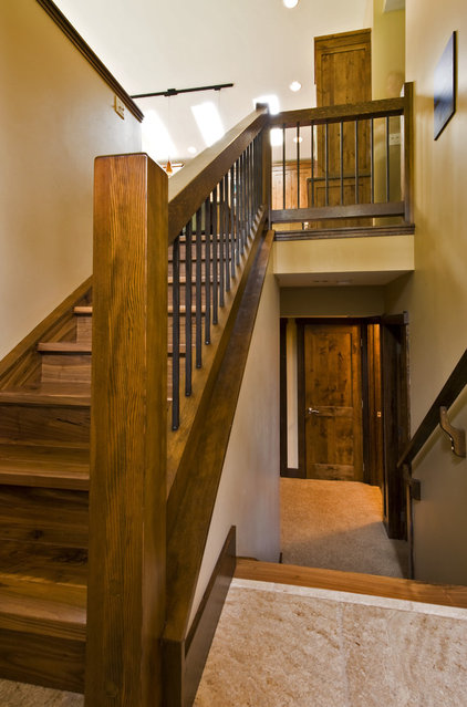 Contemporary Staircase by Sticks and Stones Design Group inc.